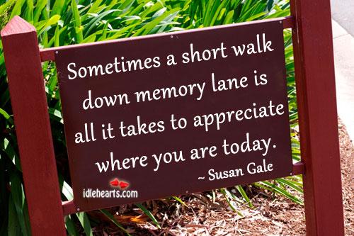 Image result for walk down memory lane