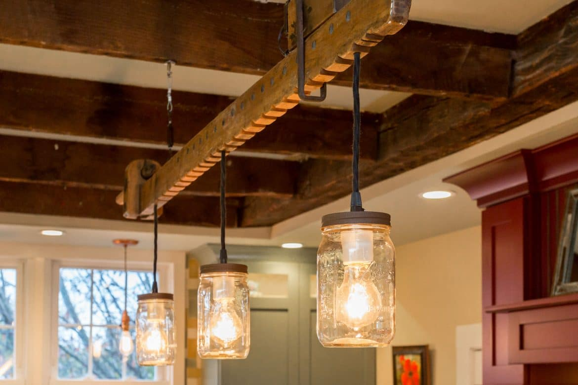Modern Farmhouse Lighting With Wood Chandelier ID Lights