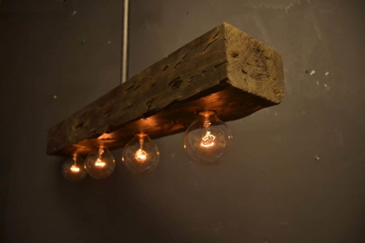Reclaimed Wood Chandelier Light Fixture ID Lights