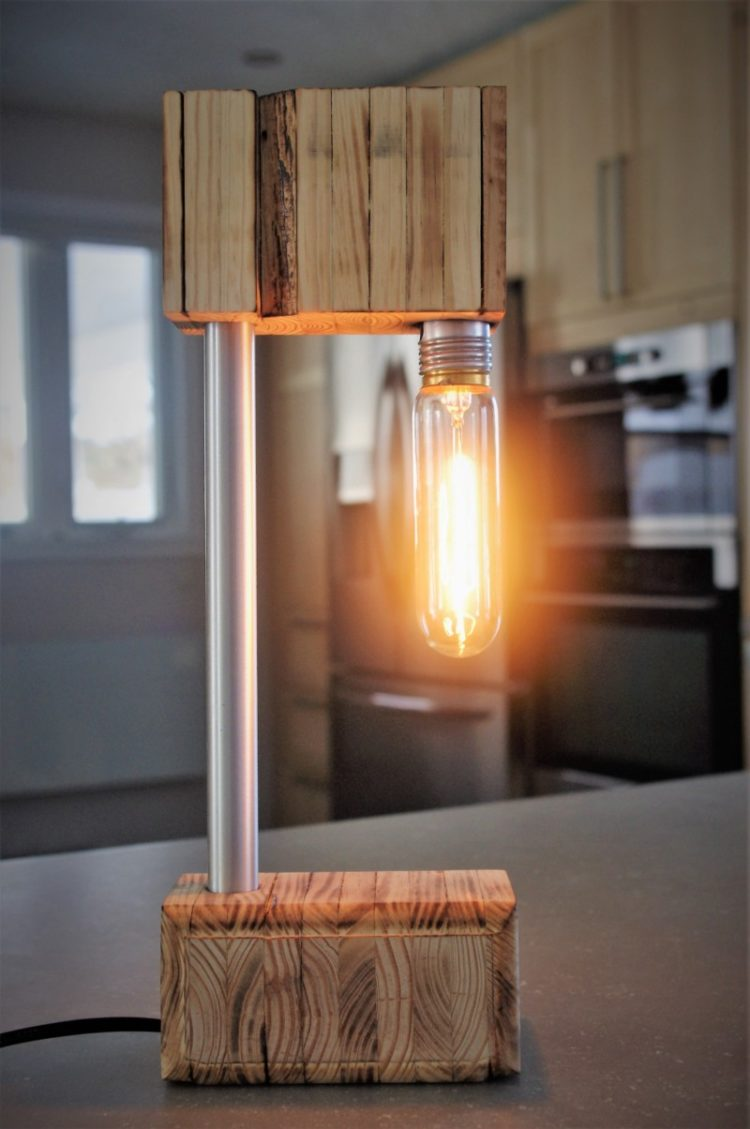 The Recycled Wooden Desk Lamp Id Lights