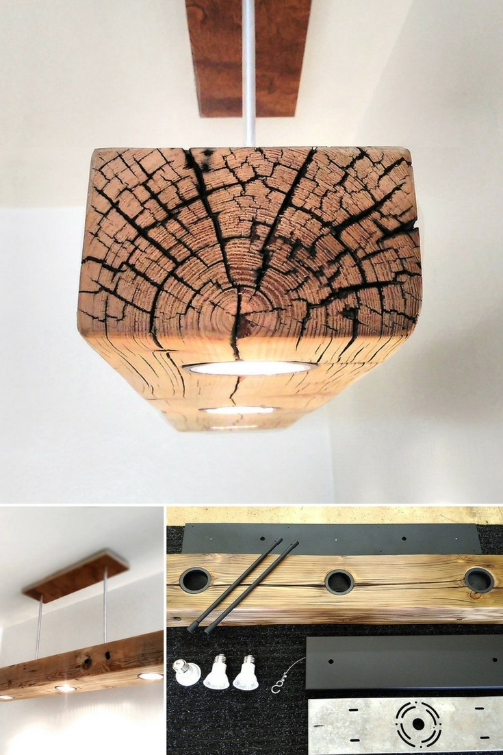 Reclaimed Wood Beam Spot Led Light Fixture Id Lights