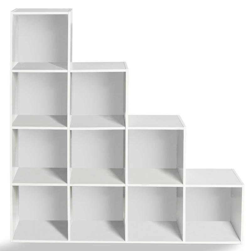 meuble escalier pas cher bois blanc 4