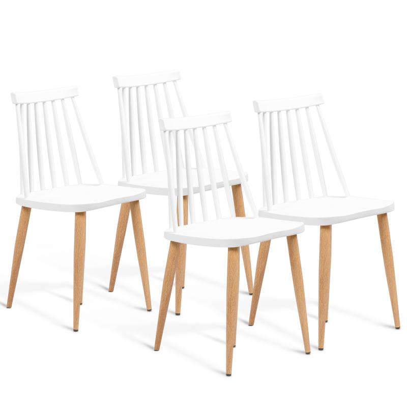 lot de 4 chaises lily blanches pour salle a manger
