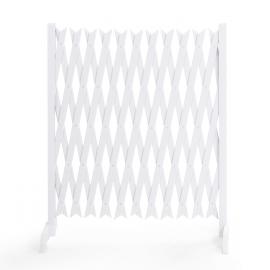 barriere extensible blanche treillis pvc 35 a 250 cm