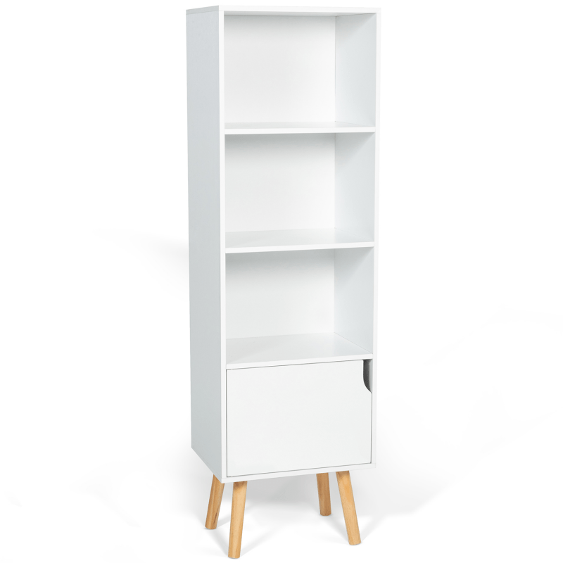 bibliotheque etagere emmie scandinave bois blanc