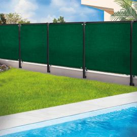 brise vue renforce 1 5 x 10 m vert 220 gr m luxe pro