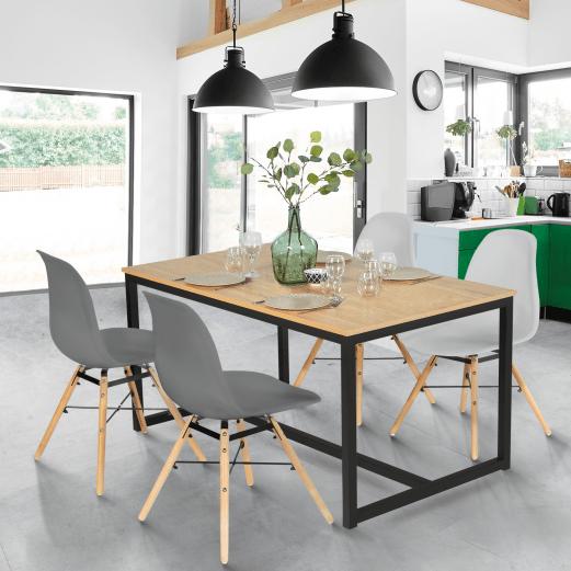 table a manger detroit design industriel 120 cm