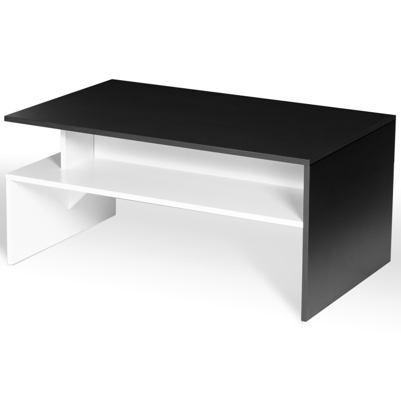 lot table basse meuble tv gabi blanc