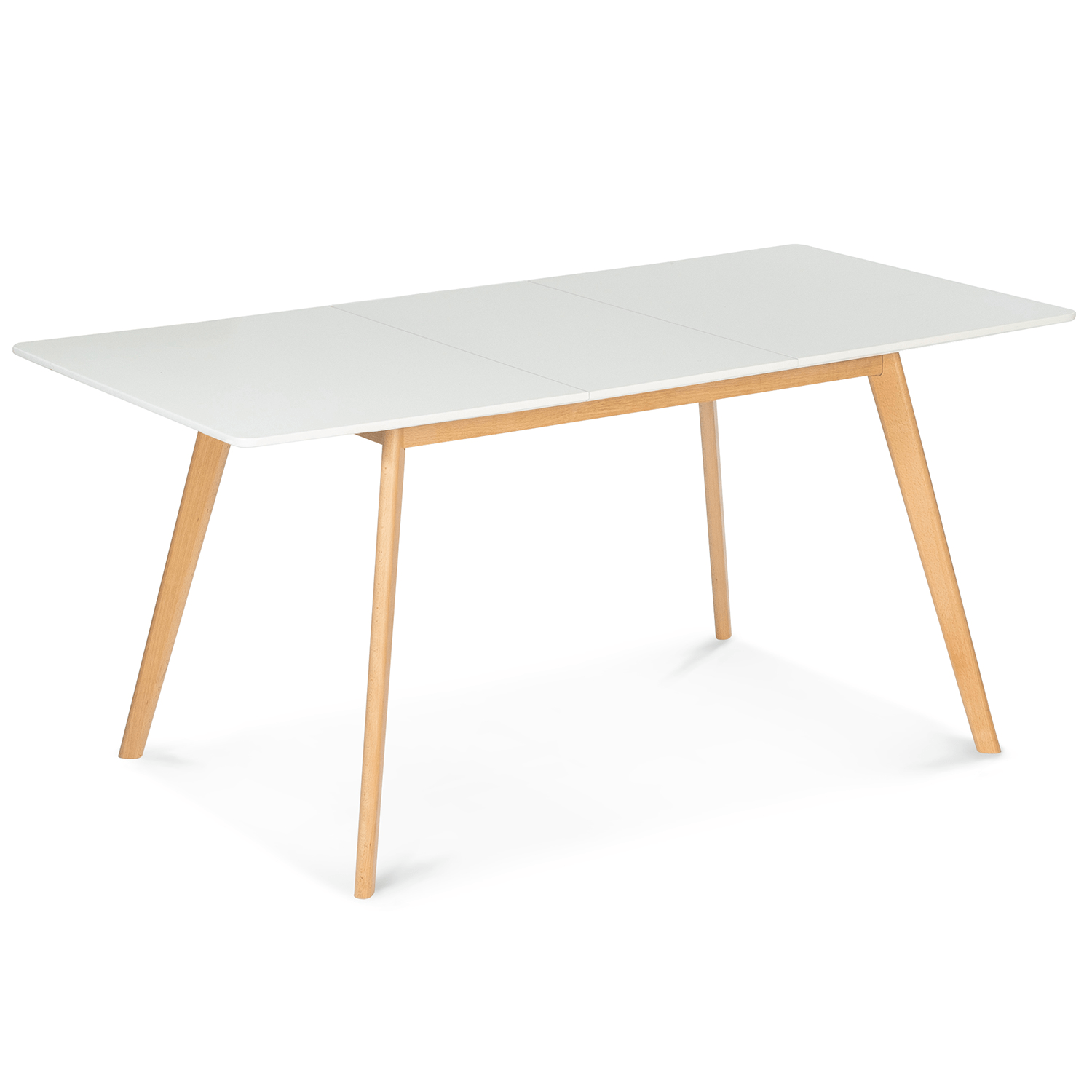 table scandinave extensible inga 120 160 cm blanche idmarket