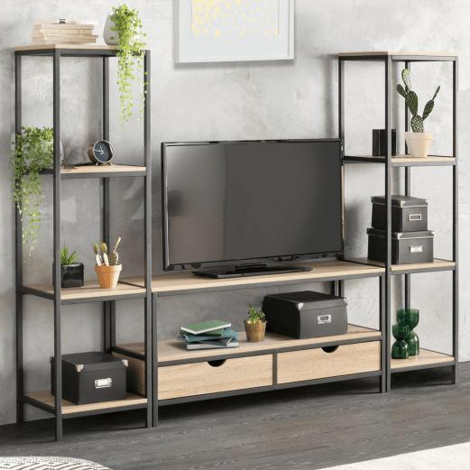 meuble tv detroit xxl design industriel