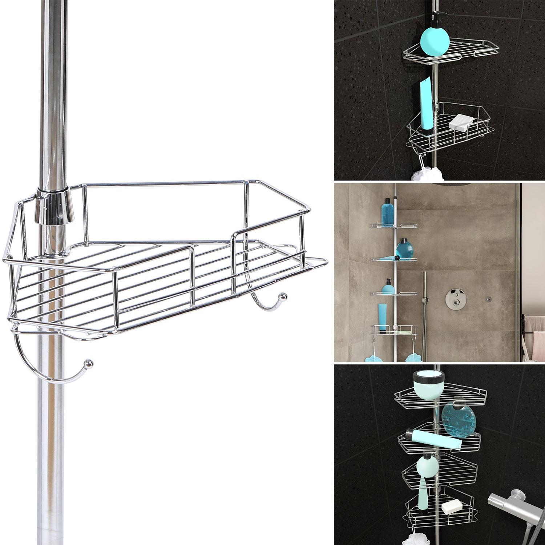 etagere d angle de douche telescopique en acier inoxydable idmarket