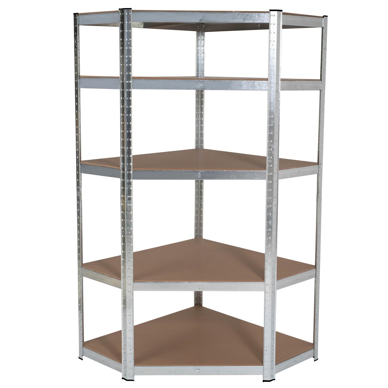 etagere d angle 5 plateaux charge lourde 875 kg en acier idmarket