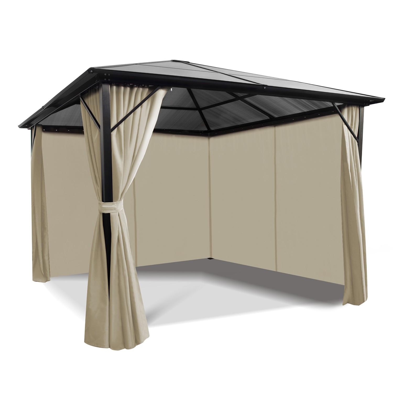 tonnelle toit polycarbonate 3x3 m
