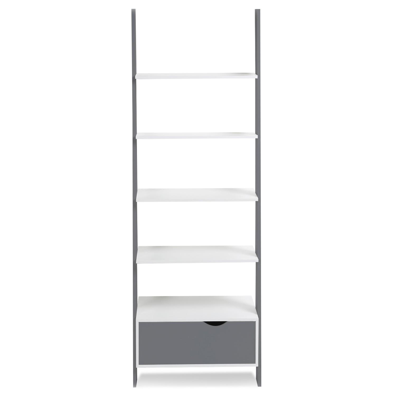 etagere echelle scandinave klara bois blanc et gris idmarket