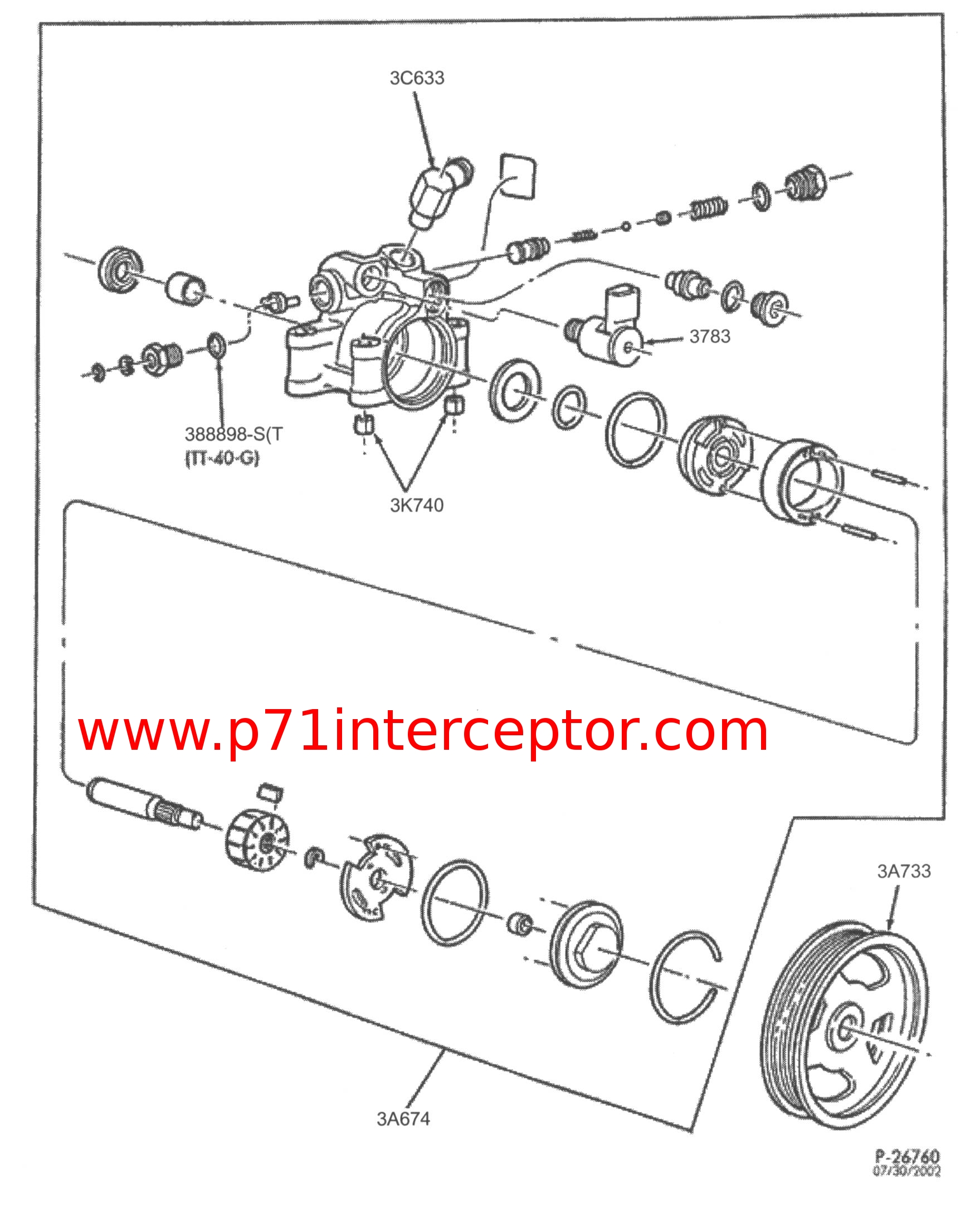 Ford Power Steering Pump Part Pictures