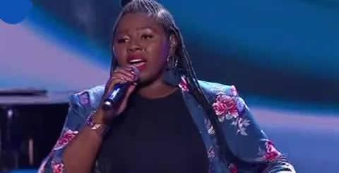 Bongiwe performing Beneath Your Beautiful By Emeli Sande