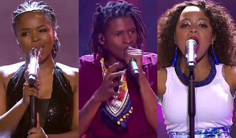 Idols SA 2018 Season 14 top 3 contestants Debut Songs