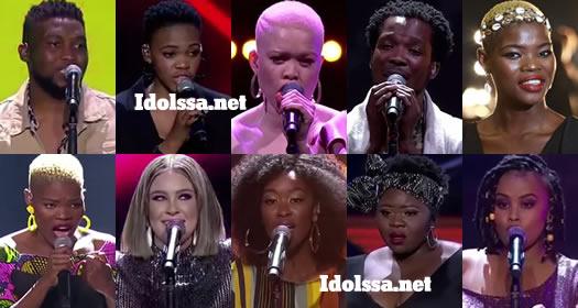 Idols SA 2019 Top 10 Contestants Viggy, Virginia, Nolo, Dinky, Micayla, Sneziey, Luyolo, Nqobile, Mmangaliso, Innocentia