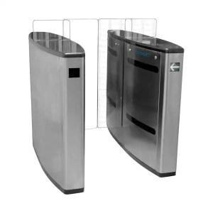 torniquete duplo de portas em vidro X IDONIC TORN V12 X Aço Inox 304 X Catraca de vidro X Controlo Bidirecional X Controlo de Acessos com Torniquetes X IdAccess X Sistema de Torniquetes X Software de Controlo de Acessos X TORN X Torniquete de Acessos X torniquete V12 X torniquete de vidro