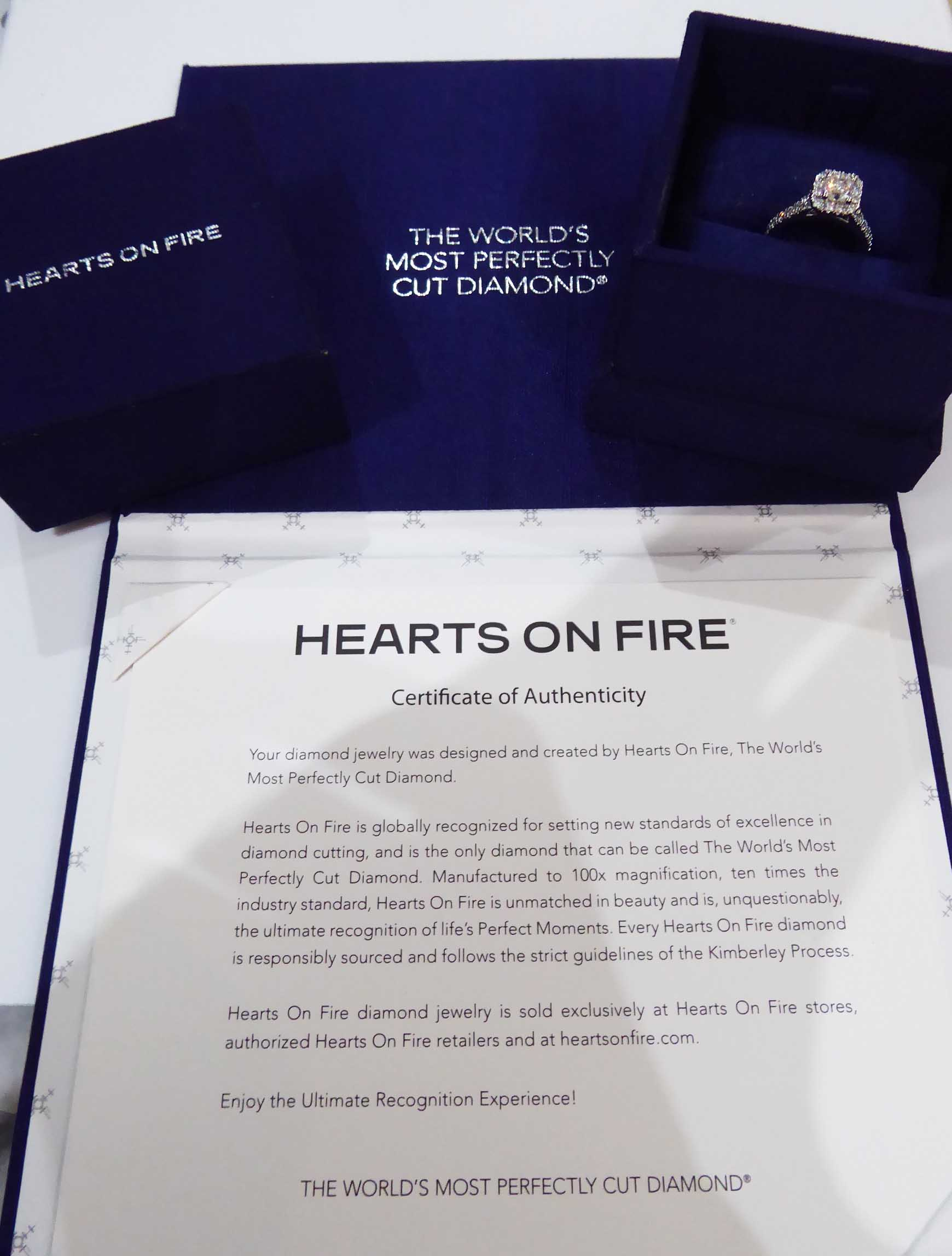 Ags Certified Platinum H Vvs1 Hearts On Fire Transcend 0 93ct Diamond Engagement Ring Beaverbrooks