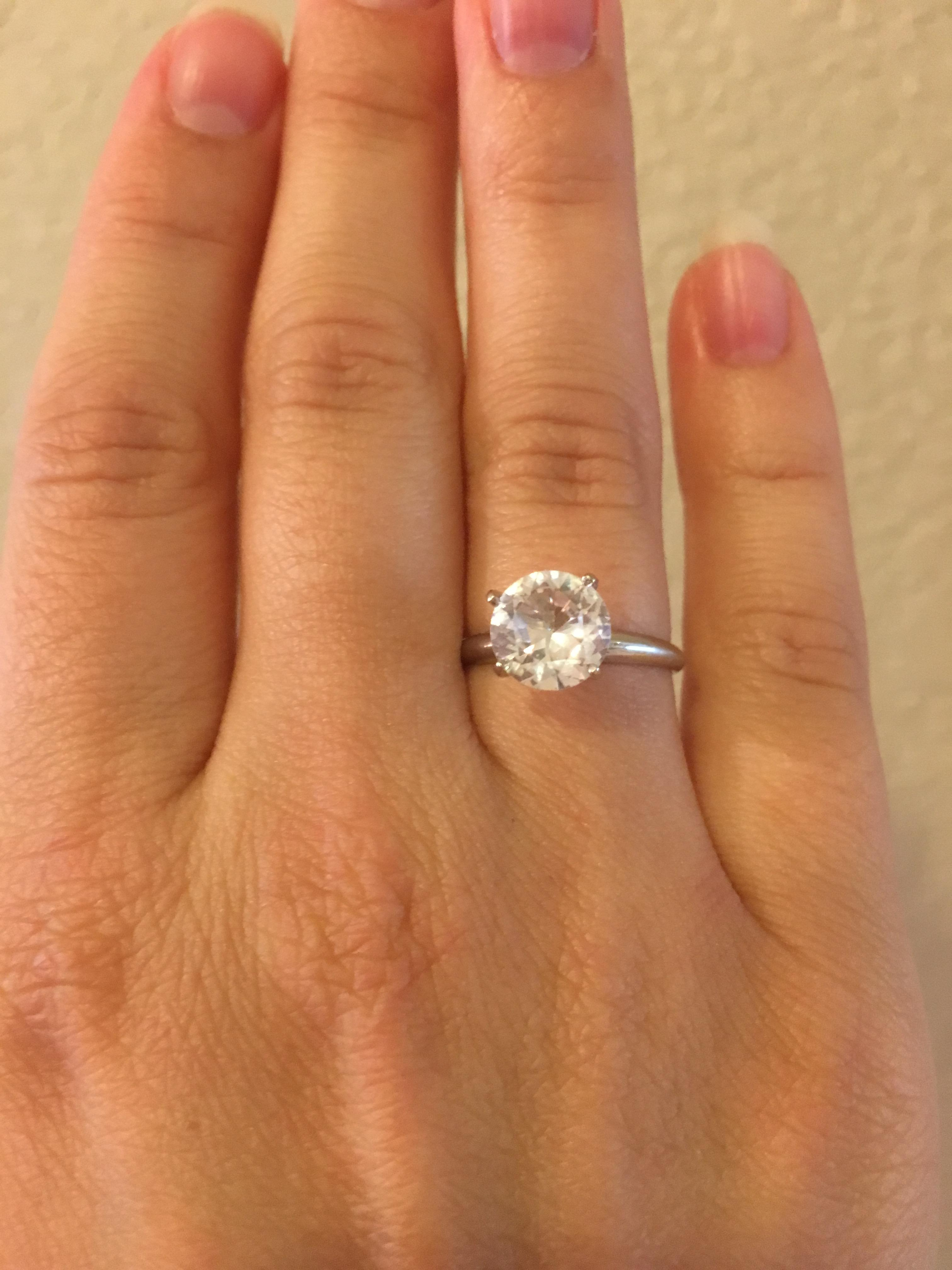 Solitaire Natural White Sapphire I Do Now I Don T