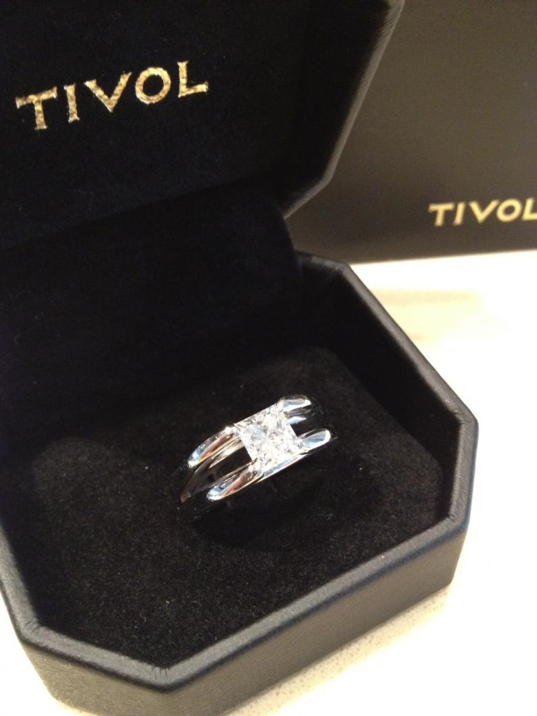 Tivol 135 Carat Engagement Ring Princess Cut Diamond