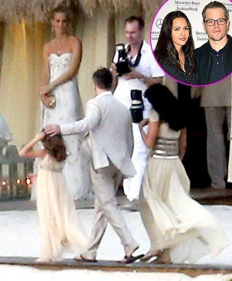 Matt Damon and wife Luciana Barroso renew their vows in a lavish ceremony