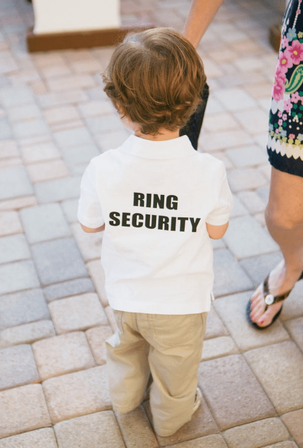 Outfit for ring bearer for the reception