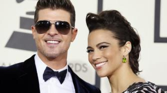 Robin Thicke and wife