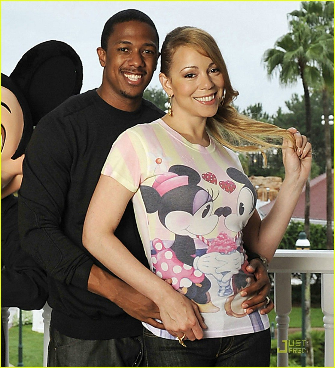 Mariah Carey And Nick Cannon On The Beach