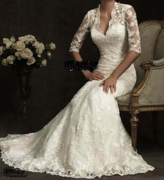 Wedding Gowns Mature Brides: Ivory Colored Wedding Dress For Older Second Time Bride