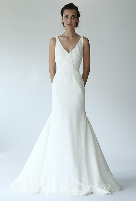 Beach wedding gowns for the second time around for Around the neck wedding dresses