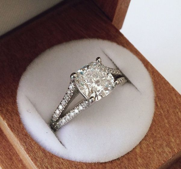 diamond engagement ring in box