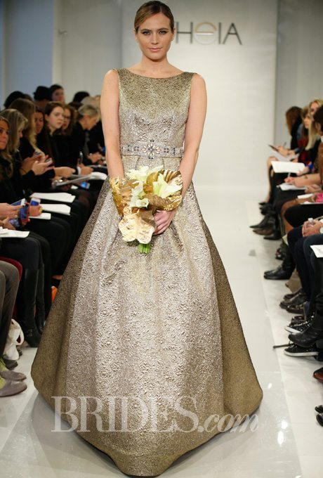 Golden Wedding Gowns for the Second Time Around