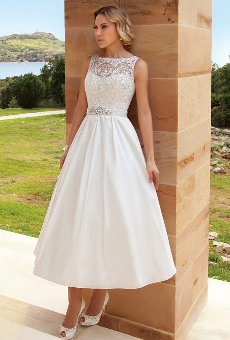 Tea Length Wedding Dresses For Older Brides | Tea Length Beauties For Older More Sophisticated Brides