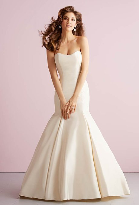 Simple Satin Wedding Gowns for your Second Time Around!