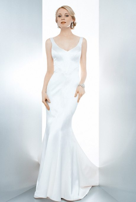 Simple, Clean Wedding Gowns Meant for Accessorizing