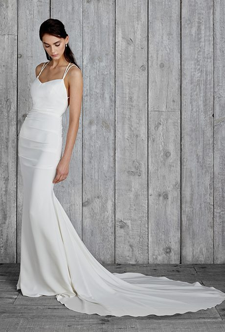 Simple Clean Wedding Gowns Meant For Accessorizing