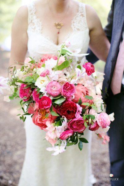 deep pink bridal bouquet