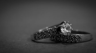 Second Marriage Wedding Ring Set in Black
