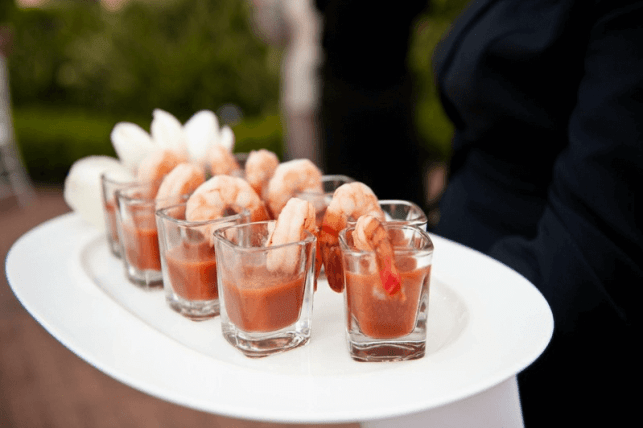 Shrimp Cocktails in Shot Glasses
