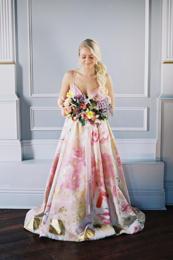 floral wedding gown