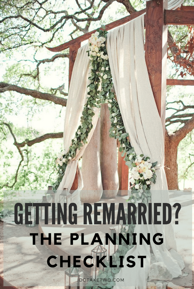 second wedding planning checklist