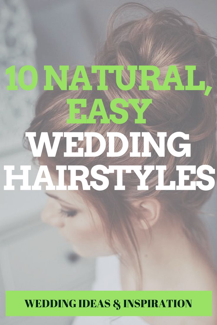Natural Easy Wedding Hairstyles