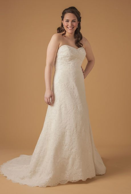 Plus Size Wedding Dresses Dina Davos 7854W 155