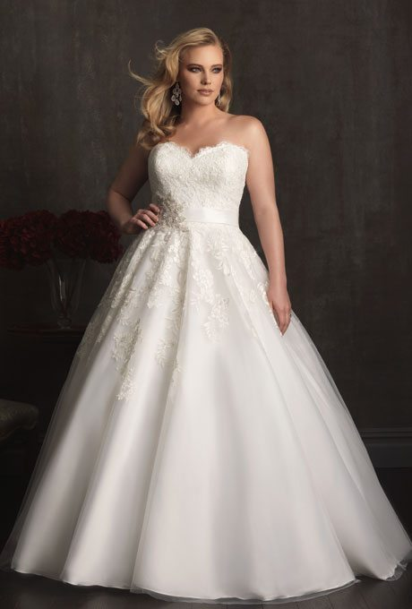 Classic, A-line Wedding Gowns For Plus-Size Brides
