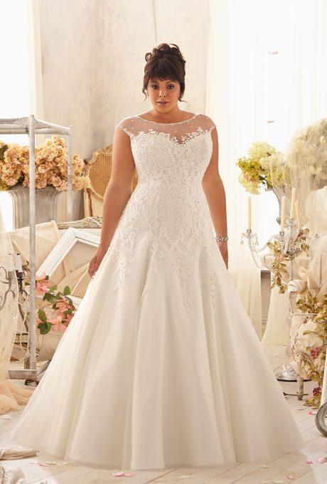 Plus Size Wedding Dresses Mori Lee 3151 013