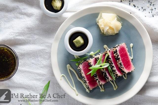 A Perfect Seared Ahi Tuna Recipe With Sesame Seeds Looks Like Stained Glass Window