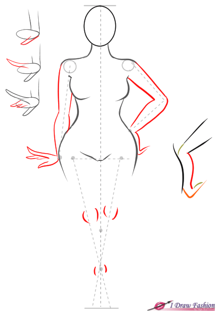 How to draw plus size fashion figure step 7