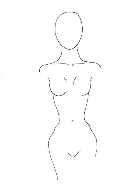 draw female body